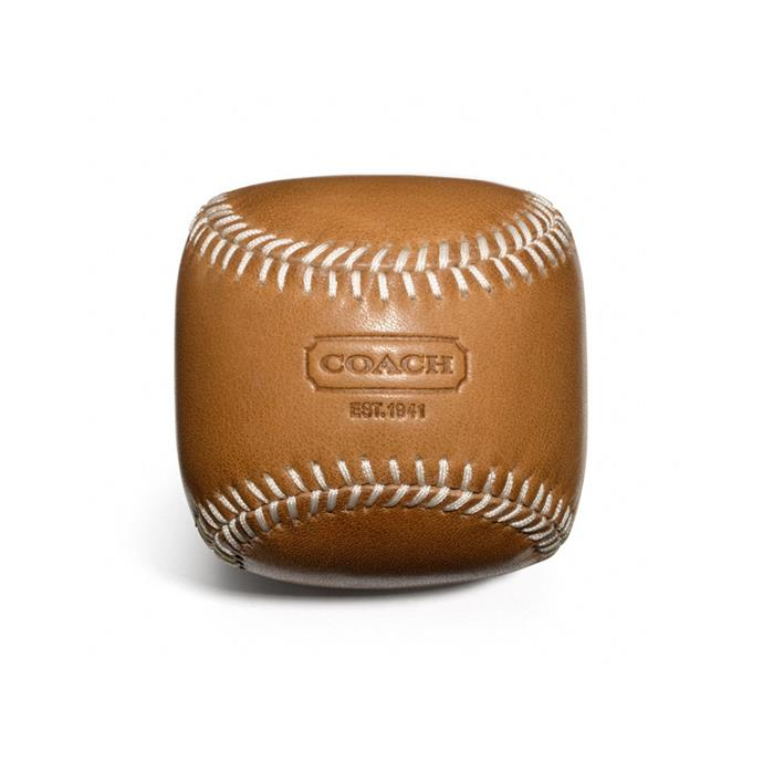 Coach leather baseball, retailed for ~$68 AUD.