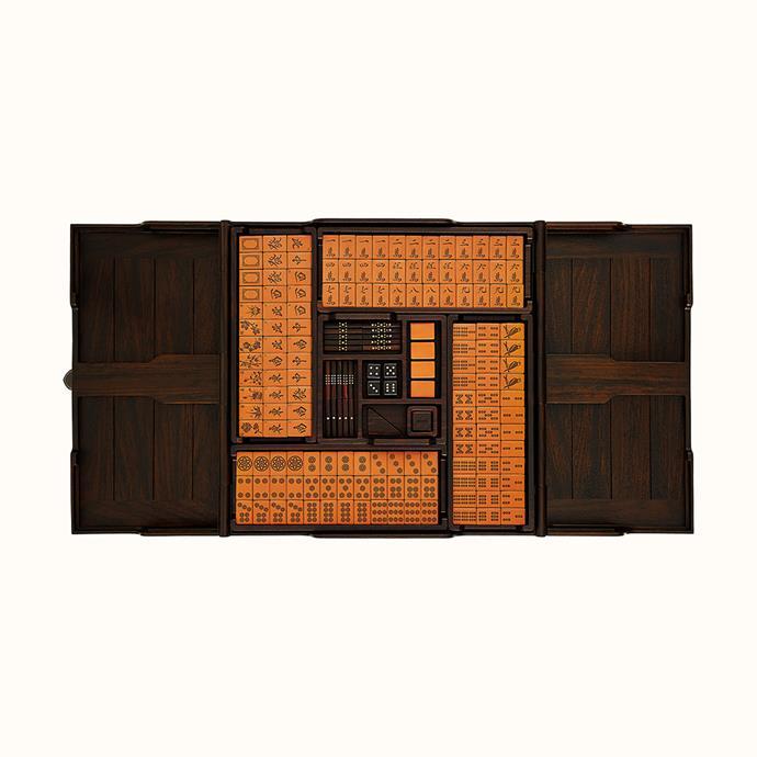 "Hermès mahjong set, [retails for ~$57,741 AUD](https://www.hermes.com/us/en/product/helios-mahjong-set-H400152Mv01/|target=""_blank""|rel=""nofollow"")."