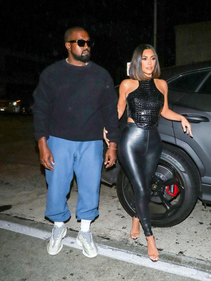 Kim Kardashian West and Kanye West on July 10, 2019.