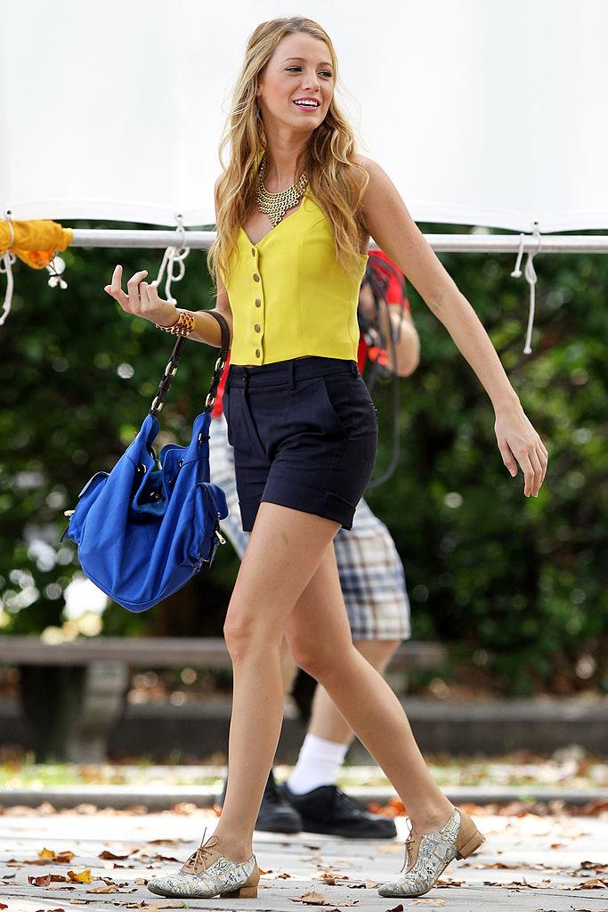 **Her brogues:** Somehow, possibly thanks to her endlessly long legs, Serena managed to make the typically unflattering brogue look high-fashion, wearing them with everything from tailored shorts to summer sundresses.