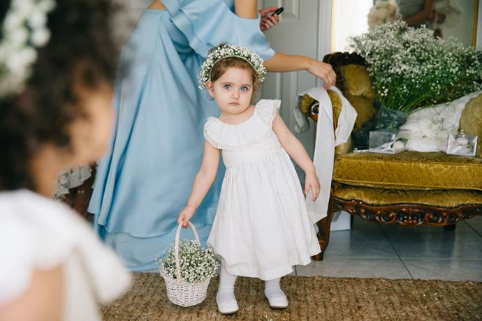 **On the flower girl looks:** My flower girls wore linen dresses I found from an online store in Portugal called Pukatuka.