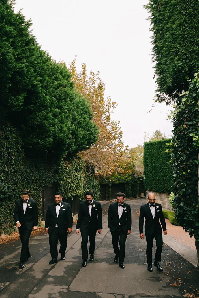 **On the groomsmen's looks:** They were to look dapper and gentleman like- mission accomplished!