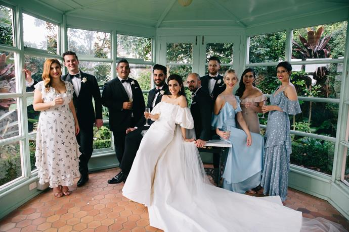 **On the guests:** Adrian is Italian and I'm Assyrian so having a total of only 230 guests was an accomplishment. We had about 90 family members on each side and the rest were our closest friends. Even though there were over 200 guests, the day felt very intimate and romantic.