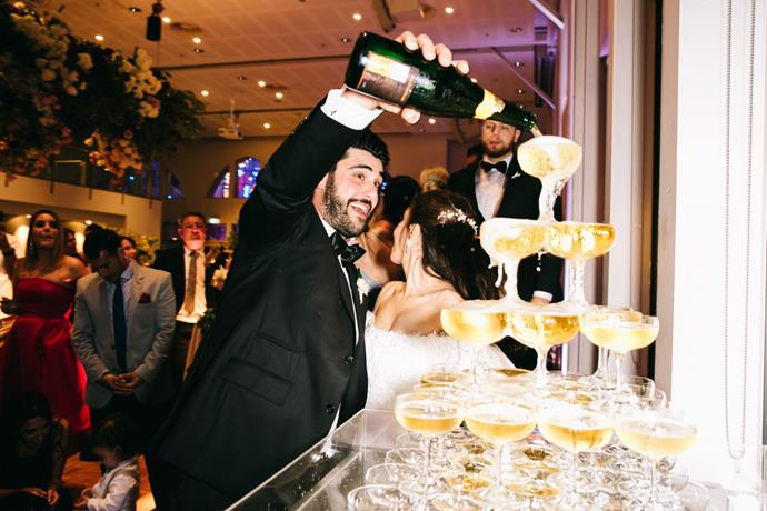 **On the drinks:** We had a champagne tower, which was flowing throughout the night.