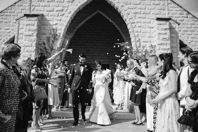 **On the most important element of the wedding:** The church ceremony, marrying my best friend in front of our family and friends.