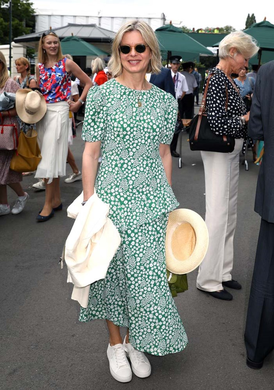 """***Lady Helen Taylor***<br><br> """"She looks fun and comfortable in this beautiful green dress. Love."""" - Kate Sullivan, senior editorial coordinator."""