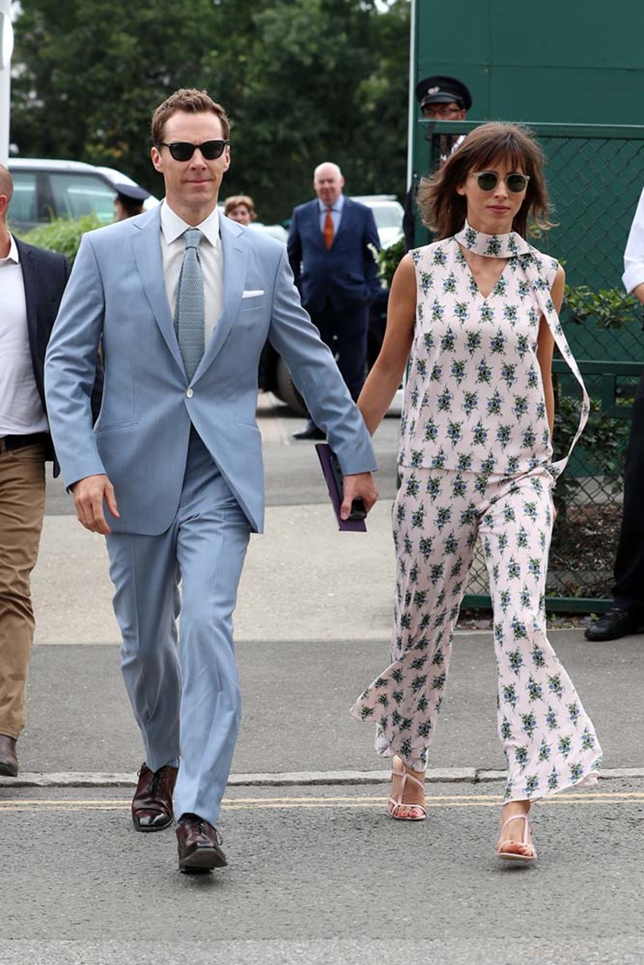 """***Sophie Hunter***<br><br> """"This Emilia Wickstead two piece is sophisticated yet playful. I love the feminne print worn in an interesting way."""" Caroline Tran, fashion editor."""