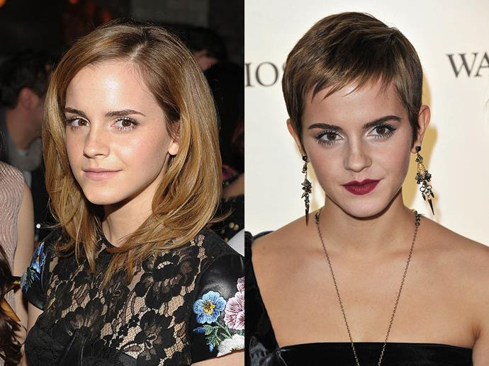 Emma Watson in March 2010 and November 2010