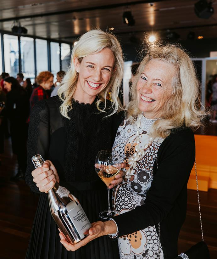 Winner Kim Jackson poses with her mum after winning the 2019 Veuve Clicquot Business Woman Award