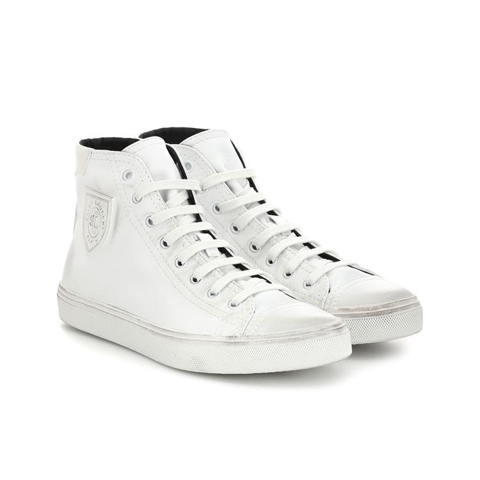 "**Buy:** Sneakers by Saint Laurent, $1,045 at [My Theresa](https://www.mytheresa.com/en-au/saint-laurent-bedford-leather-high-top-sneakers-1128813.html?catref=category|target=""_blank""