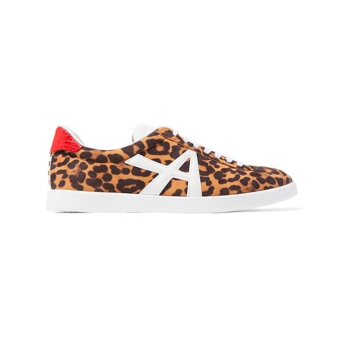 "**Buy:** Sneakers by Aquazurra, $555 at [Net-a-Porter](https://www.net-a-porter.com/au/en/product/1150362/aquazzura/the-a-leather-trimmed-leopard-print-suede-sneakers|target=""_blank""