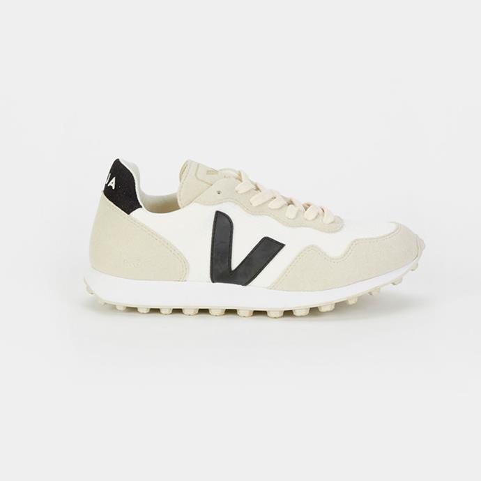 "**Buy:** Sneakers by Veja, $155 at [My Chameleon](https://www.mychameleon.com.au/fashion/shoes/sdu-hexa-b-mesh-sneaker-veja|target=""_blank""