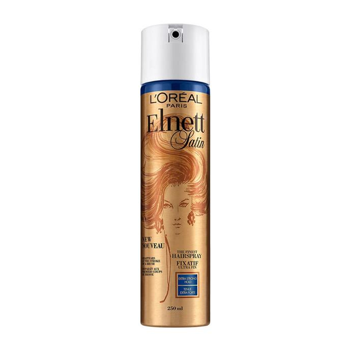 "***Elnett Satin Normal Strength Hairspray by L'Oreal***<br><Br> As was this hairspray by L'Oreal.<br><br> Elnett Satin Normal Strength Hairspray by L'Oreal, $10.99 at [Priceline](https://www.priceline.com.au/l-oreal-paris-elnett-satin-normal-strength-hairspray-400-ml|target=""_blank""