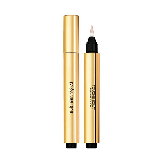"***Touche Éclat Concealer by Yves Saint Laurent***<br><br> To brighten up her undereye (she has got three kids, you know!), Kate uses YSL's famous Touche Éclat.<br><br> Touche Éclat Radiant Touch by Yves Saint Laurent, $70 at [MECCA](https://www.mecca.com.au/yves-saint-laurent/touche-eclat-radiant-touch/V-009111.html|target=""_blank""