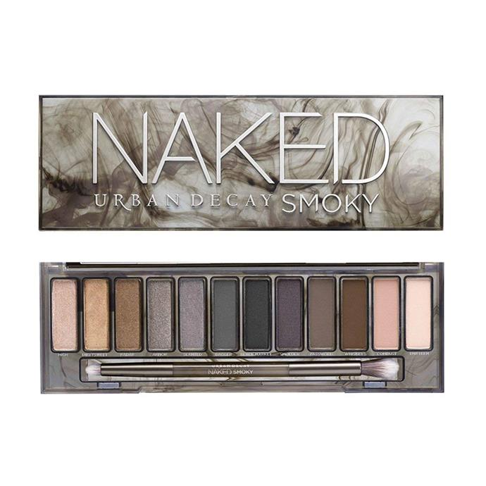 "***Naked palette by Urban Decay***<br><br> Wondering about the shades behind that classic smoky eye? According to reports, Kate loves Urban Decay's 'Naked Smoky' palette so much she recommended it to Michelle Obama. High praise. Sources say 'Toasted' and 'Hustle' are her go-to shades.<br><br> Similar: Naked Reloaded Eyeshadow Palette by Urban Decay, $69 at [MECCA](https://www.mecca.com.au/urban-decay/naked-reloaded-eyeshadow-palette/I-036369.html|target=""_blank""