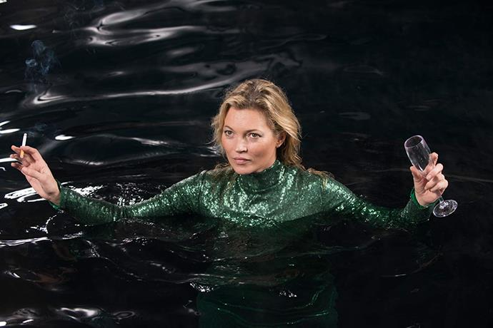 "**Kate Moss in *Absolutely Fabulous: The Movie (2016)*** <br><br> The plot of the *Ab-Fab* movie revolved around [Moss](https://www.harpersbazaar.com.au/fashion/kate-moss-daughter-17427|target=""_blank""), after Edina and Patsy flee the UK after accidentally 'killing' her. The fashion icon had only a few moments on screen, but at least fans got to see her swanning around in the River Thames wearing a green sequinned gown, with wine and a cigarette in hand. <br><br> *Image: IMDb*"