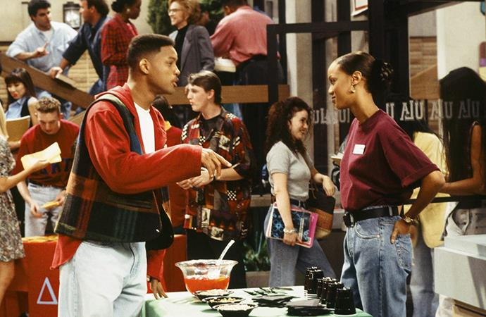 **Tyra Banks in *The Fresh Prince of Bel-Air (1992)*** <br><br> In the early '90s, Banks had a recurring role as Jackie Ames, the on-and-off girlfriend of Will Smith's character, in the hit sitcom *The Fresh Prince of Bel-Air*. Her arc lasted a handful of episodes during the show's fourth season, and saw Banks taken seriously as an actress as well as a supermodel. <br><br> *Image: IMDb*