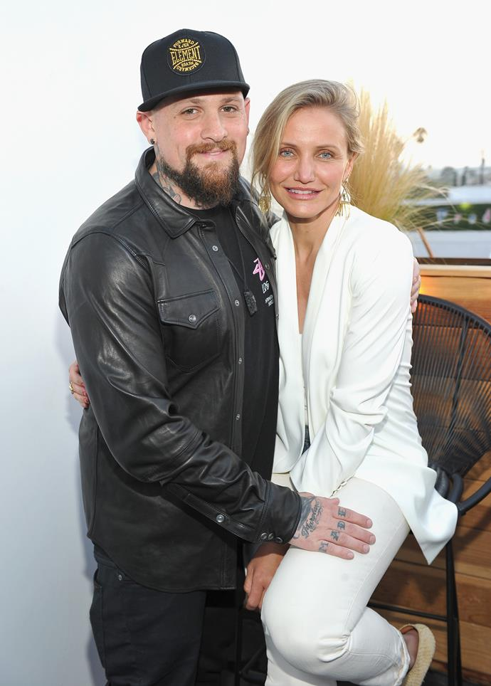 **Benji Madden and Cameron Diaz** <br><br>Cameron and Benji capped their quick engagement off with a low-key wedding in Beverly Hills in 2015.