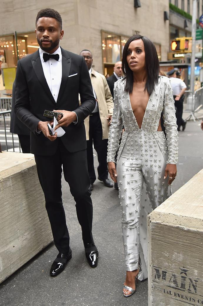 **Kerry Washington and Nnamdi Asomugha** <br><br>Considering they've only been spotted together a handful of times, it's no surprise that Kerry Washington and and 49ers cornerback Nnamdi Asomugha wanted to keep their 2013 ceremony off the radar.