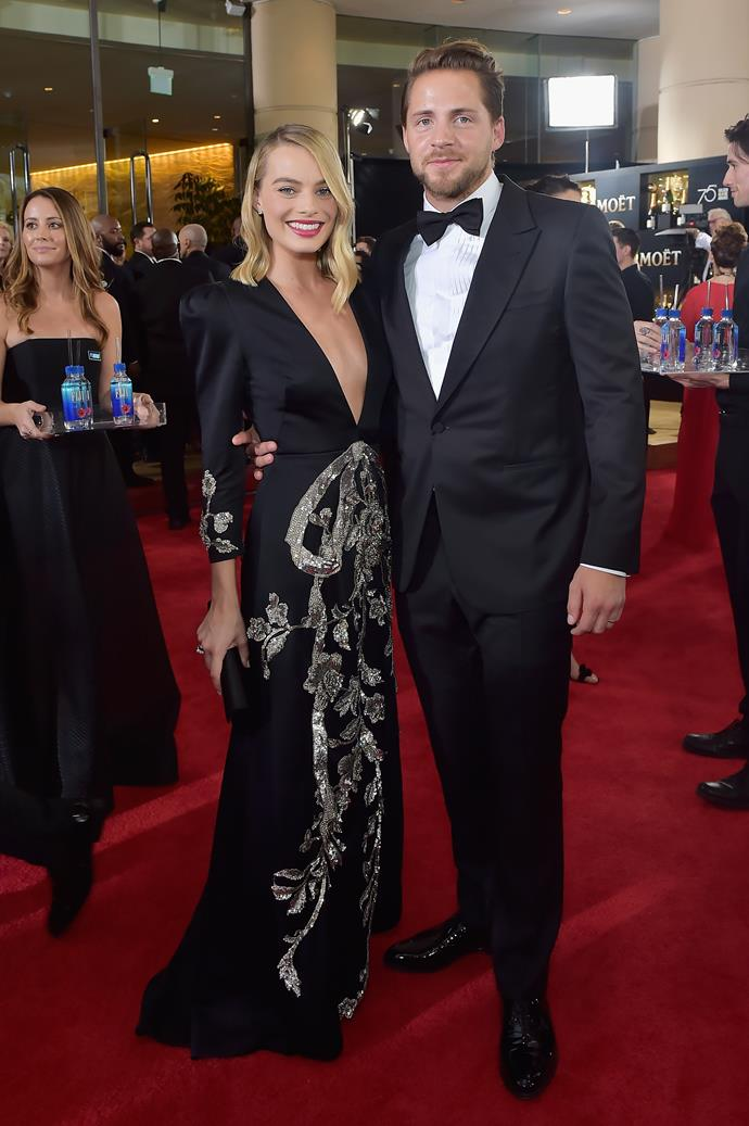 **Margot Robbie and Tom Ackerley** <br><br>Pulling off a secret wedding is one thing, pulling off a secret wedding in *Byron Bay* is another. We have to hand it to Margot Robbie and film director Tom Ackerley, who wed in 2016.