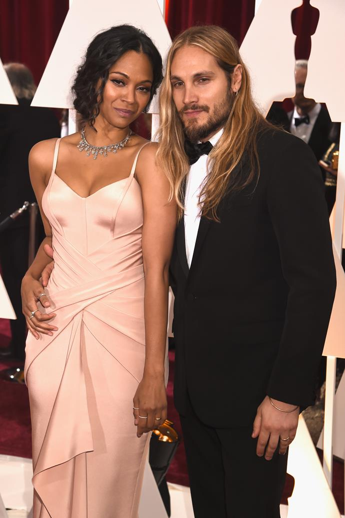 **Zoe Saldana and Marco Perego**<br><Br> According to reports, Zoe and Marco planned their 2013 wedding in just three weeks. They now share three sons, Cy, Bowie and Zen.