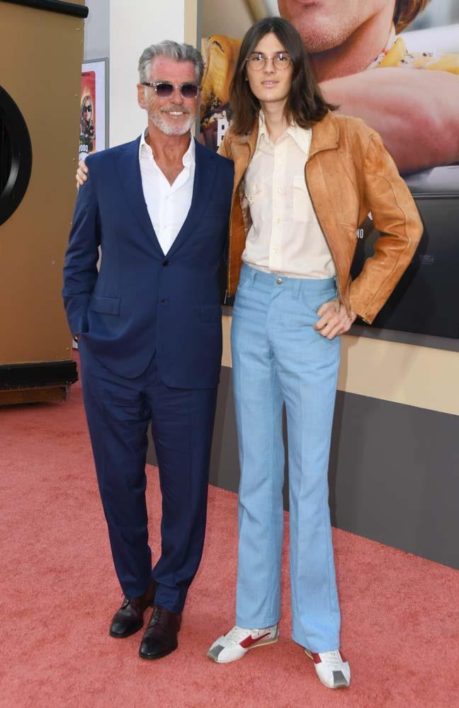 Pierce Brosnan and Dylan Brosnan.