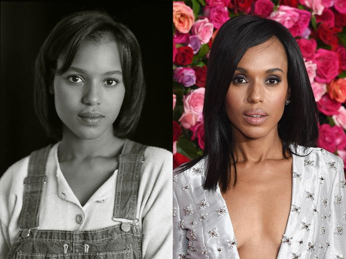 "**Kerry Washington in 1996 and in 2018**<br><br>  *Headshot via [Andrew Brucker](http://andrewbruckerheadshots.com/|target=""_blank""