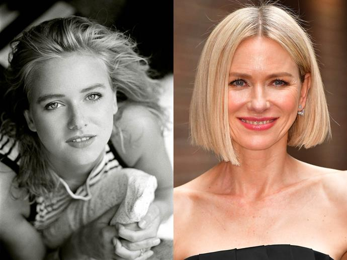 "**Naomi Watts in 1986 and in 2019**<br><br>  *Headshot via [Andrew Brucker](http://andrewbruckerheadshots.com/|target=""_blank""