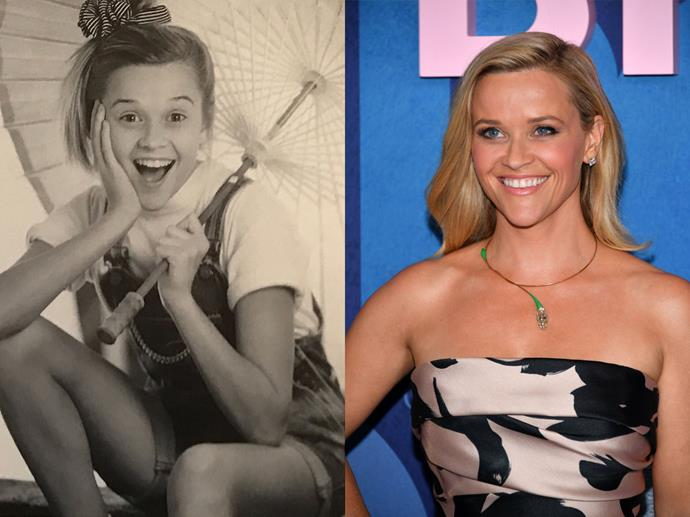 """**Reese Witherspoon circa 1988 and in 2019**<br><br>  *Headshot via [@reesewitherspoon](https://www.instagram.com/p/BiFosRVHScU/