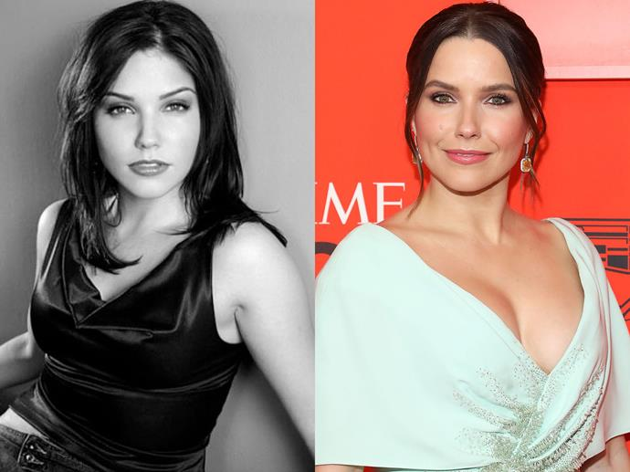 "**Sophia Bush in 2004 and in 2019**<br><br>  *Headshot via [@sophiabush](https://www.instagram.com/p/BiGfoJMjKyM/|target=""_blank""