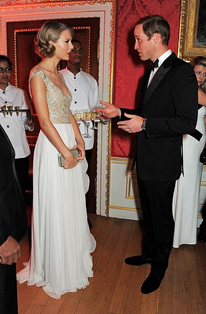 **Taylor Swift meeting Prince William in 2013**