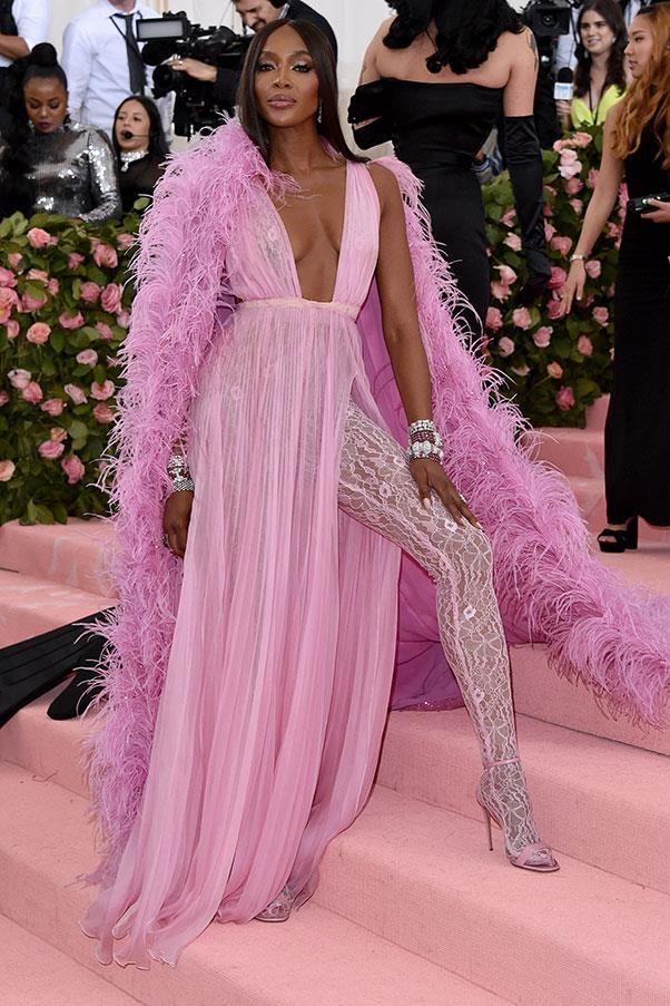 Naomi Campbell in Valentino at the 2019 Met Gala