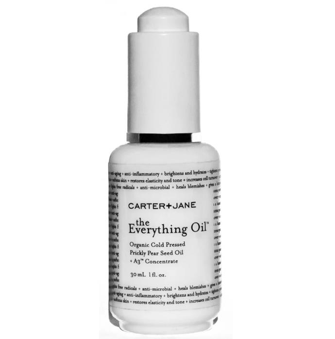 "The Everything Oil by Carter + Jane, approximately $84 to $185 from [Carter + Jane](https://carterandjane.com/products/carter-jane-the-everything-oil?variant=5438401445921|target=""_blank""