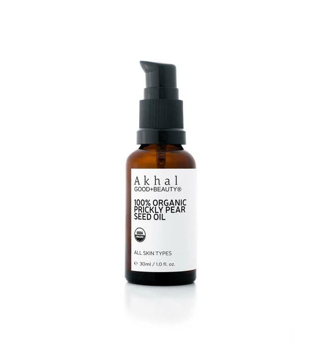 "100% Organic Prickly Pear Seed Oil by Akhal, $115.00 from [Bond Clean Beauty](https://bondcleanbeauty.com/product/100-organic-prickly-pear-seed-oil/|target=""_blank""