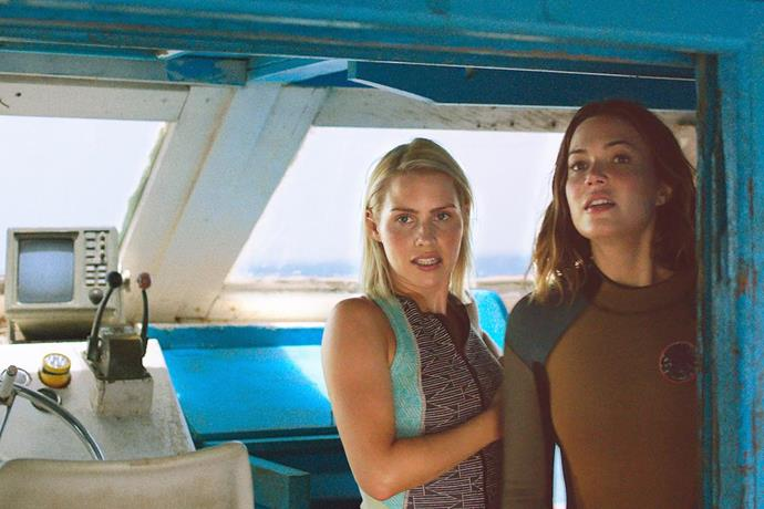 ***47 Metres Down* (arrives 10/08/2019)** <br><br> Two sisters vacationing in Mexico are trapped in a shark cage at the bottom of the ocean. With less than an hour of oxygen left and great white sharks circling nearby, they must fight to survive.