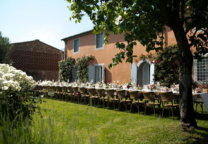 **On the location:** For our wedding day we were looking for a place in Tuscany in Italy that wouldn't be a typical wedding venue. We had a few options and narrowed it down to this incredible private residence high in the hills of Lucca, Tuscany. The owner was very sweet and accommodating, the photos of the place were beautiful but when we visited it in the spring we were blown away. It was even more perfect in real life!