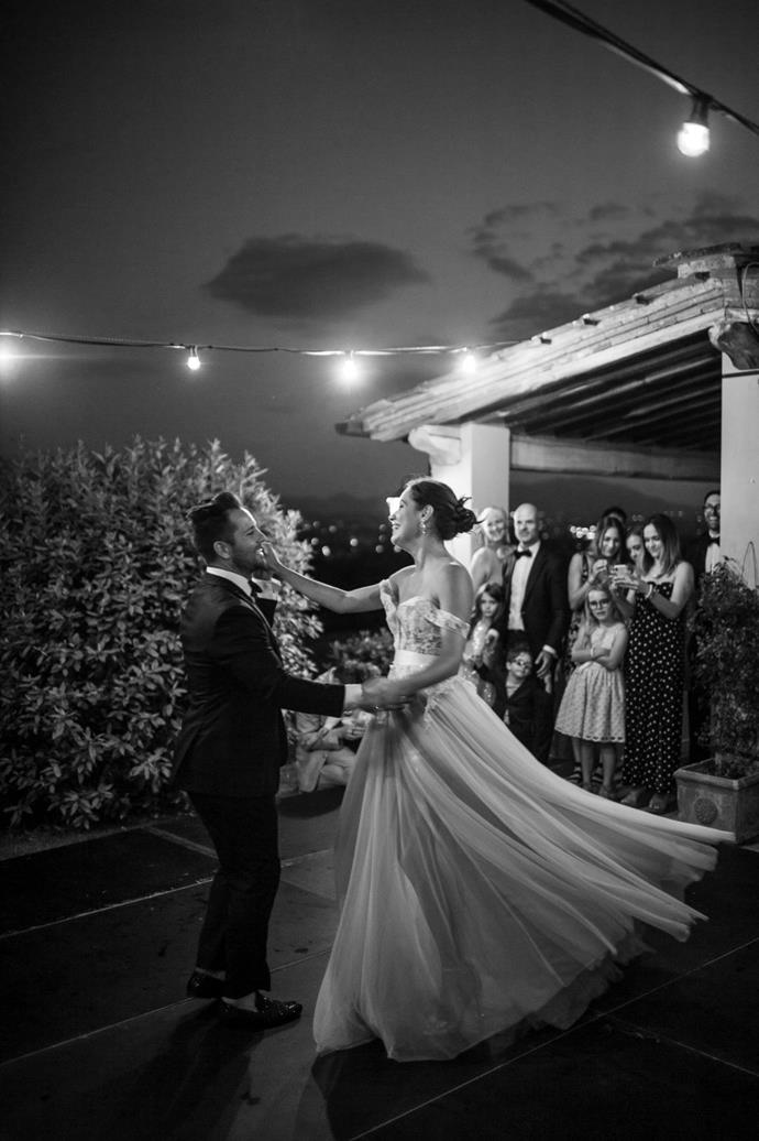 **On the first dance song:** We chose 'Perfect' by Ed Sheeran for our first dance, we absolutely love the lyrics and the sound of the song. Throughout the song, we welcomed all of our friends and family to join us on the dance floor.