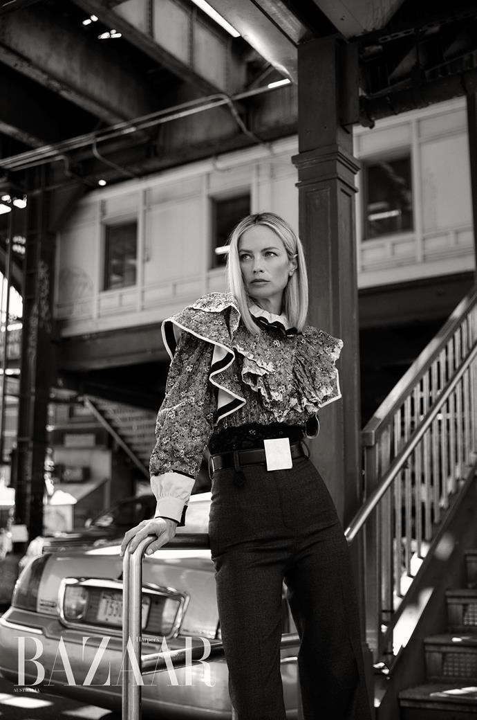 Carolyn Murphy for *Harper's BAZAAR Australia* Image: Darren McDonald Wearing: Louis Vuitton