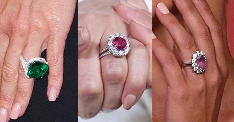 23 Celebrity Coloured-Stone Engagement Rings | Harper's BAZAAR Australia