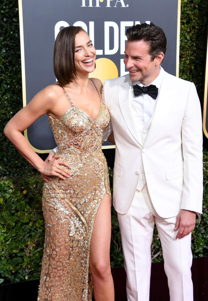 "**Bradley Cooper and Irina Shayk** <br><br> Actor Cooper and supermodel Shayk appeared smitten on the 2019 awards season circuit, where Cooper was nominated for multiple accolades for his film *A Star Is Born*. However, in June 2019, the couple ended their relationship after four years together, and are said to be sharing custody of their daughter, Lea de Seine. <br><br> Since then, reports have surfaced alleging that *[A Star Is Born](https://www.elle.com/culture/celebrities/a27892145/bradley-cooper-irina-shayk-lady-gaga-a-star-is-born-relationship-details/|target=""_blank""