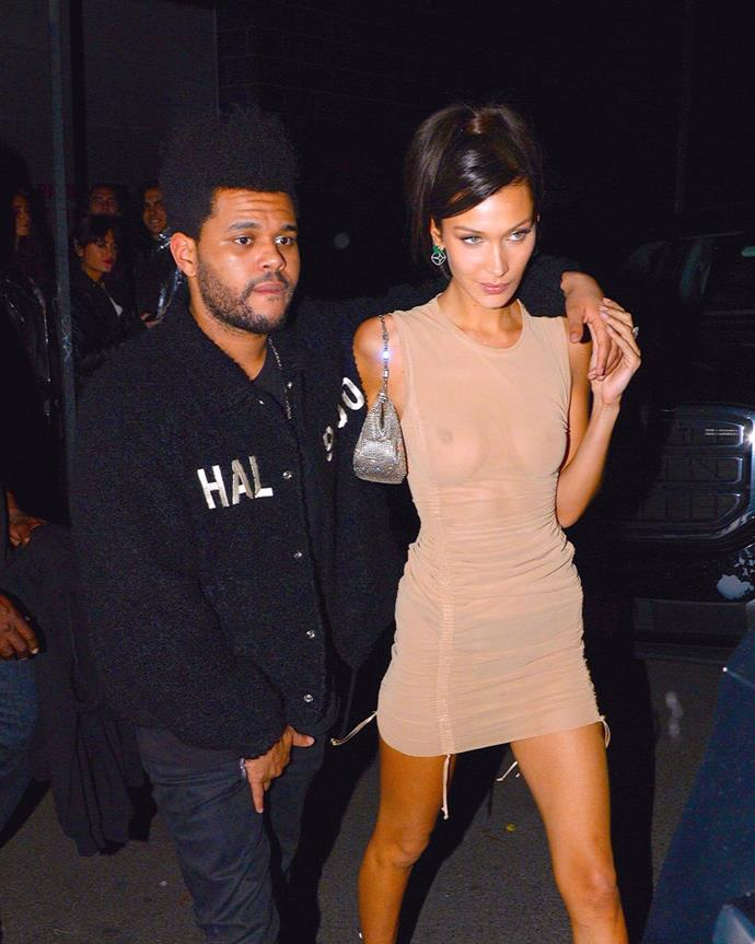 "**Bella Hadid and The Weeknd** <br><br> Supermodel Bella Hadid and her boyfriend, Canadian singer/songwriter The Weeknd (real name Abel Tesfaye), enjoyed a very private on-and-off relationship, but reportedly ended things in August 2019. This is the second time they've called off their relationship in four years, after splitting between November 2016 and July 2018.  <br><br> According to *[E! News](https://www.eonline.com/news/1062718/bella-hadid-and-the-weeknd-are-officially-broken-up-again|target=""_blank""