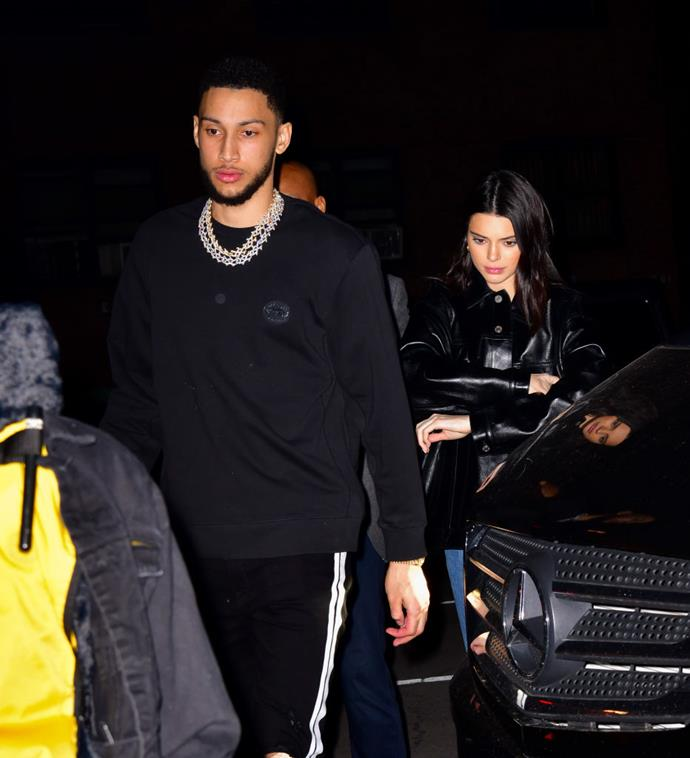 "**Kendall Jenner and Ben Simmons** <br><br> Unlike her famous family members, model Kendall Jenner keeps her private life relatively under wraps. Therefore, fans were surprised when she began dating Australian NBA player Ben Simmons in 2018, despite never posting about one another on social media. <br><br> After reportedly sharing a home together in Hollywood, they called things off in May 2019, according to *[E! News](https://www.eonline.com/au/shows/kardashians/news/1044003/kendall-jenner-and-ben-simmons-split-after-1-year-what-went-wrong|target=""_blank""