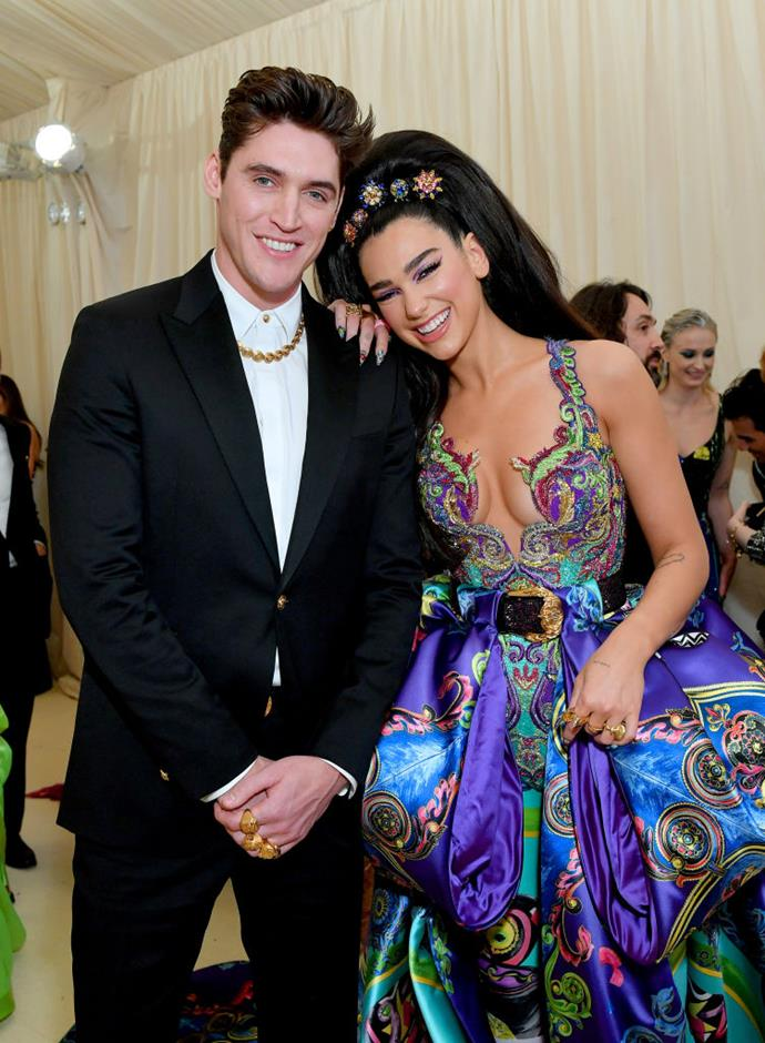 "**Dua Lipa and Isaac Carew** <br><br> 'New Rules' singer Dua Lipa and her boyfriend, British chef Isaac Carew (pictured here at the 2019 Met Gala) reportedly split in June 2019. A source told British tabloid *[The Sun](https://www.thesun.co.uk/tvandshowbiz/9227233/dua-lipa-and-boyfriend-isaac-carew-break-up-18-months-after-reconciling/|target=""_blank""