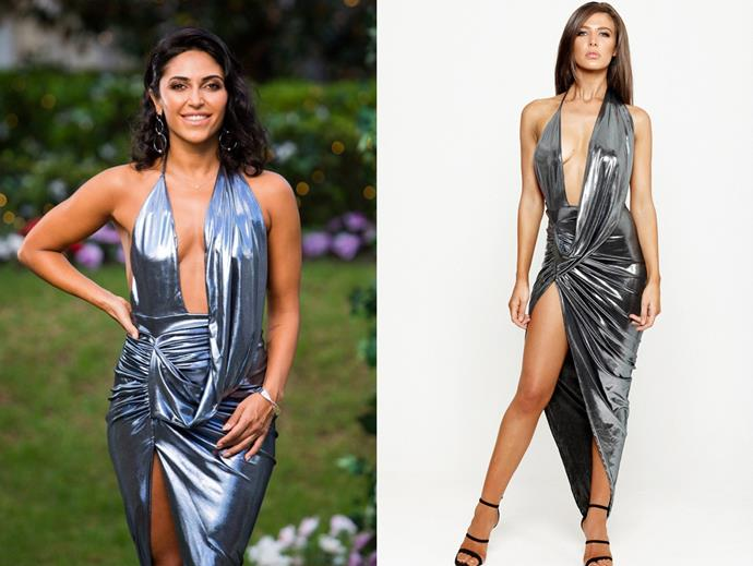 "Sogand wears the 'Fiorelli' dress, $179.95 by [SCK the Label](https://sckthelabel.com/collections/d-r-e-s-s-e-s/products/fiorelli-drape-gown-pink|target=""_blank""