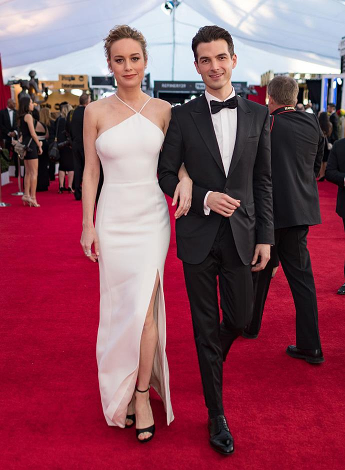 "**Brie Larson and Alex Greenwald** <br><br> Larson and actor/singer Alex Greenwald had been engaged for three years, and together for five, before their split was announced in February 2019. A source told *[People](https://people.com/movies/brie-larson-boyfriend-alex-greenwald-end-engagement/|target=""_blank""