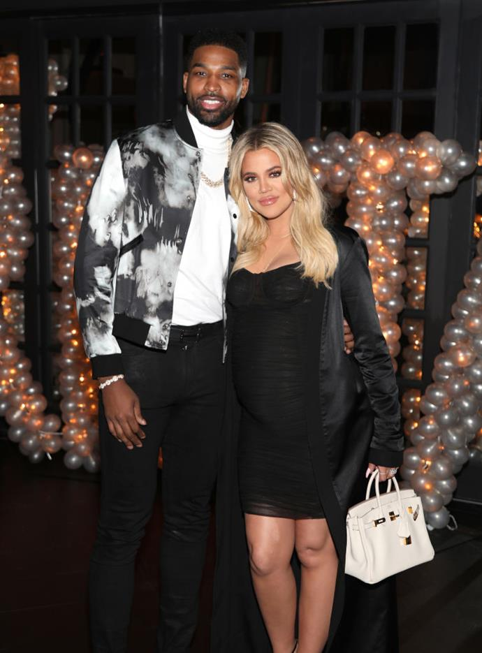 "**Khloé Kardashian and Tristan Thompson** <br><br> Kardashian's relationship with basketballer Tristan Thompson ended in February 2019 following a well-documented ""fling"" between Thompson and [Jordyn Woods](https://www.elle.com.au/culture/kylie-jenner-jordyn-woods-conversation-20739