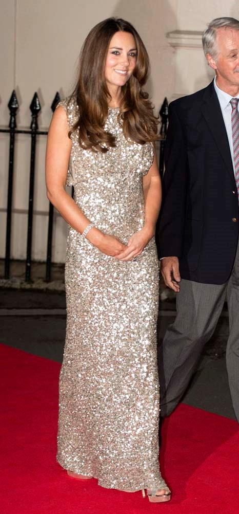 ***Sequins***<br><br> When it comes to night-time events, Kate is a matte girl, rarely partaking in sequins, glitter or embellishments. Kate has only ever been seen wearing three gowns featuring embellishment.