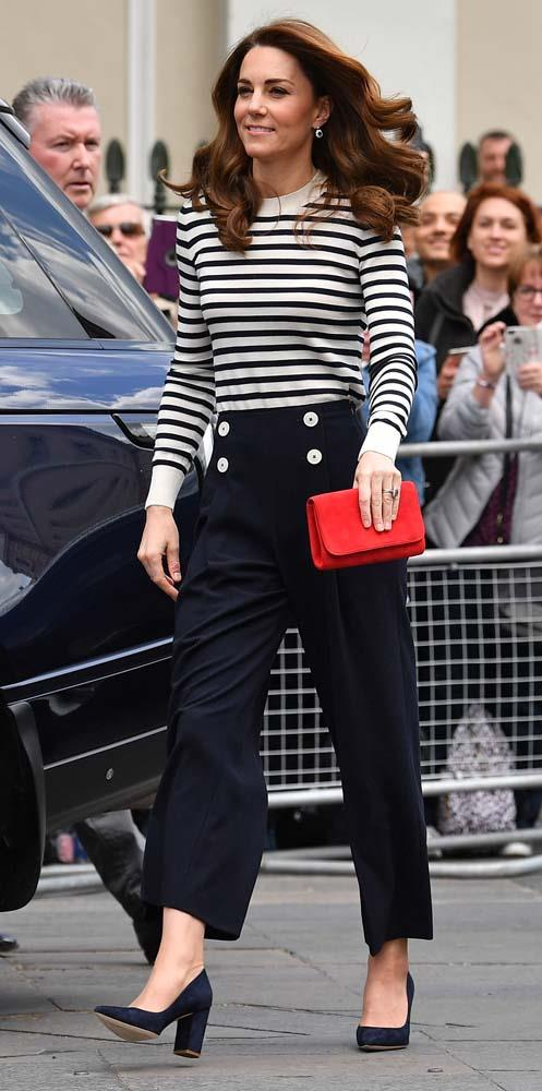 ***Trousers***<br><br> Although they aren't strictly 'banned' in the royal family, trousers aren't a common wardrobe choice for royal women. Apart from a few pairs of jeans for sporting events, the Duchess of Cambridge has only been seen wearing trousers three or four times in 10 years.