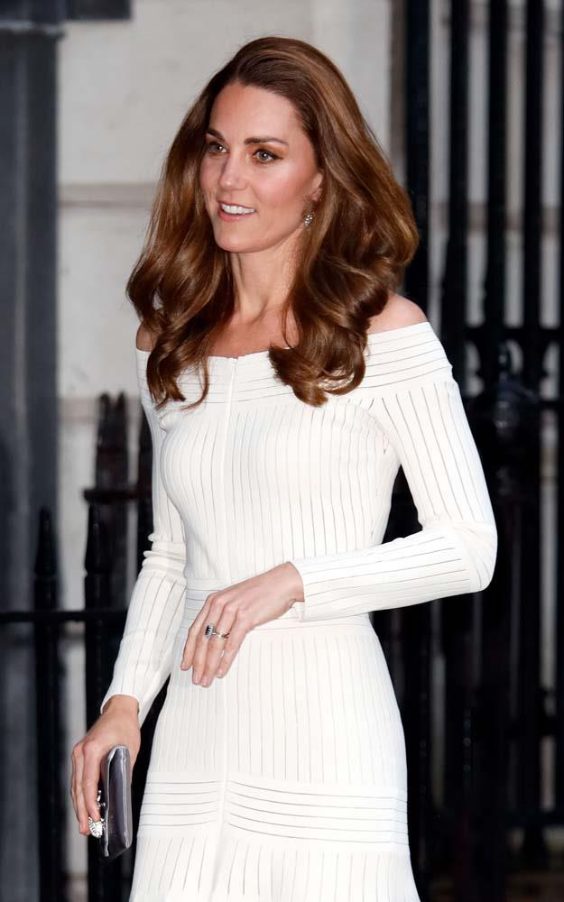 ***Off-The-Shoulder Necklines***<br><br> Whether for practicality reasons (shaking hands in an off-the-shoulder top is particularly difficult) or for personal preference, Kate has only worn four off-the-shoulder necklines in ten years.