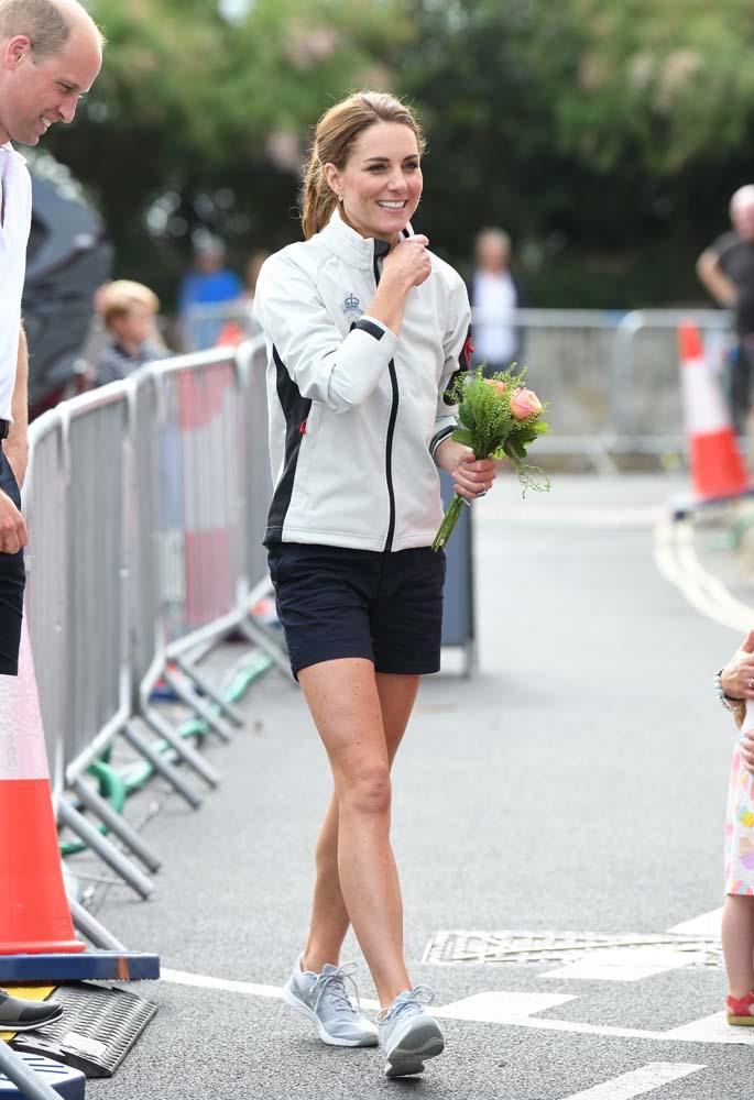 ***Shorts***<br><br> While attending the King's Cup sailing championship in August 2019, Kate surprised onlookers by wearing a pair of (event-appropriate!) shorts. In over ten years in the public eye, the Duchess has only been spotted wearing shorts once before (and that was pre-wedding), making them a rare occurrence indeed.